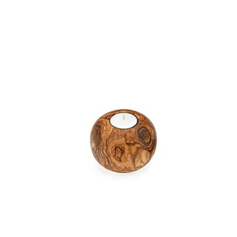 Van Verre Olive wood candle holder ball
