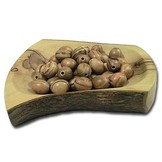 Desert Rose Olive wood bead oval 16.5mm x 14mm