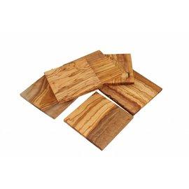 D.O.M. Vierkante houten onderzetters