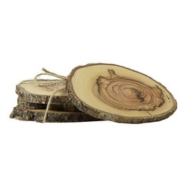 Desert Rose Wooden coasters, set of 4