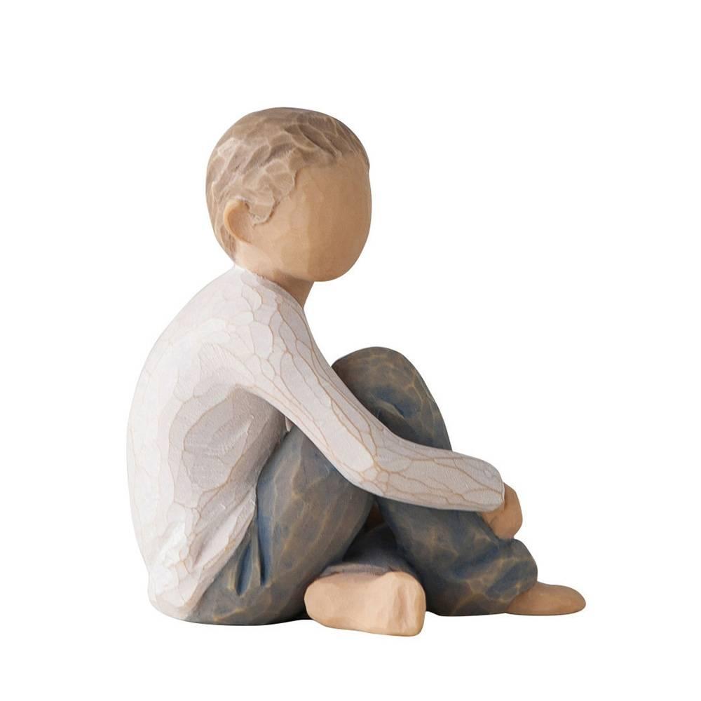 Willow Tree beeldje Caring Child (jongen)