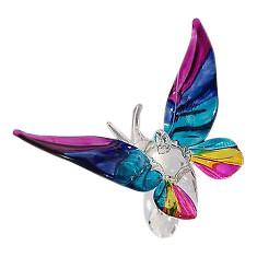 Suncatcher vlinder van glas en Swarovski kristal (tropisch)