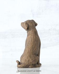 Willow Tree beeldje Love My Dog (donkergekleurd)