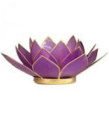 Lotus kaarshouder - Licht paars