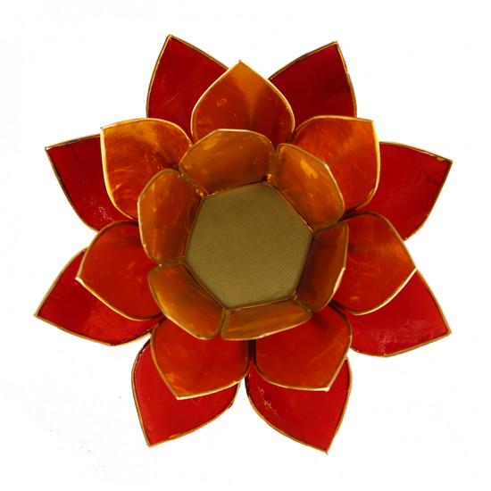 Lotus kaarshouder - geel/oranje/rood (driekleurig)