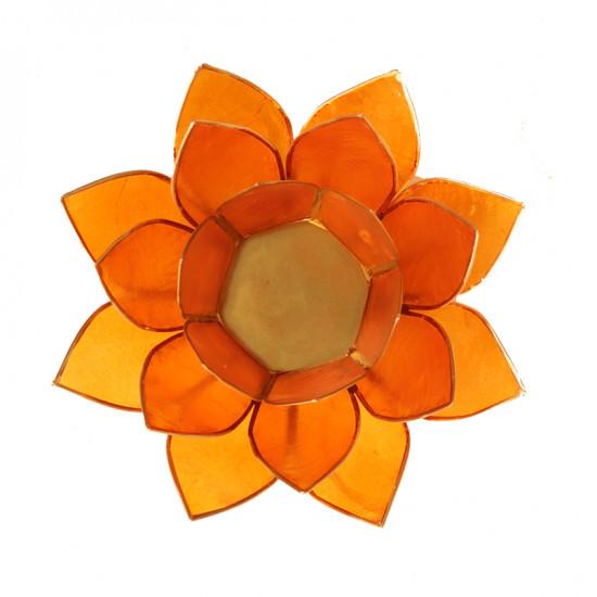 Lotus kaarshouder - oranje