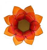 Lotus kaarshouder - roze/oranje (tweekleurig)