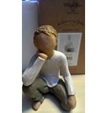Willow Tree beeldje Inquisitive Child (jongen)