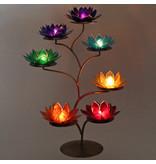 Standaard voor lotus kaarshouders (brons)