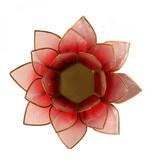 Lotus kaarshouder - rood/roze (tweekleurig)