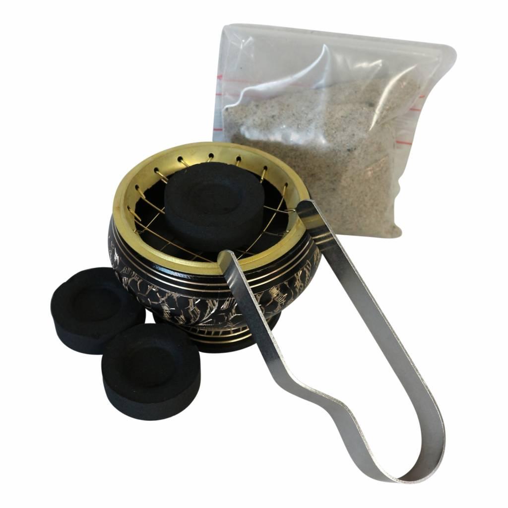 Wierookbrandertje voor kooltjes zwart (middel)