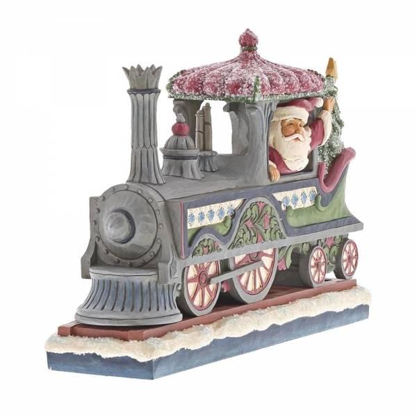 Jim Shore Victorian Santa in Train - kerstman