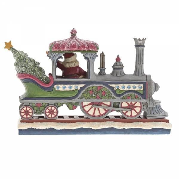 Jim Shore Jim Shore Victorian Santa in Train - kerstman