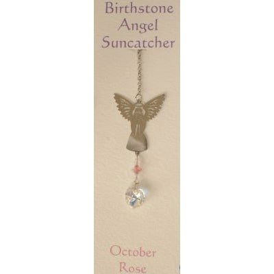 Engel Suncatcher Geboortesteen - Oktober