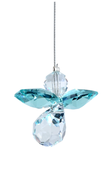 Suncatcher kristal engeltje - december