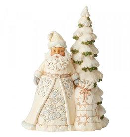 Jim Shore Jim Shore White Woodland Santa with Tree
