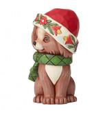 Jim Shore Christmas Puppy Mini