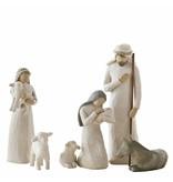 Willow Tree De Heilige familie met herder (Kerststal)