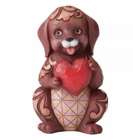 Jim Shore Dog Holding Heart Pint-Sized