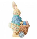 Jim Shore Jim Shore Bunny Pushing Cart of Eggs - paashaas