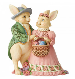 Jim Shore Bunny Couple with Basket