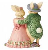 Jim Shore Bunny Couple with Basket - paashazen