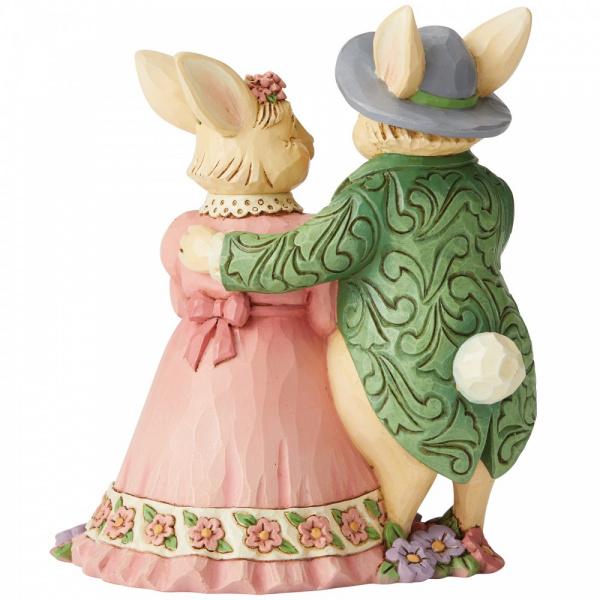 Jim Shore Jim Shore Bunny Couple with Basket - paashazen