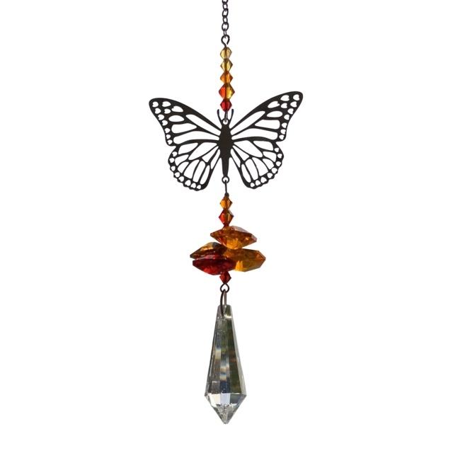 Suncatcher monarch vlinder met Swarovski kristal