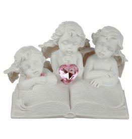 Beeldje 3 engeltjes met boek