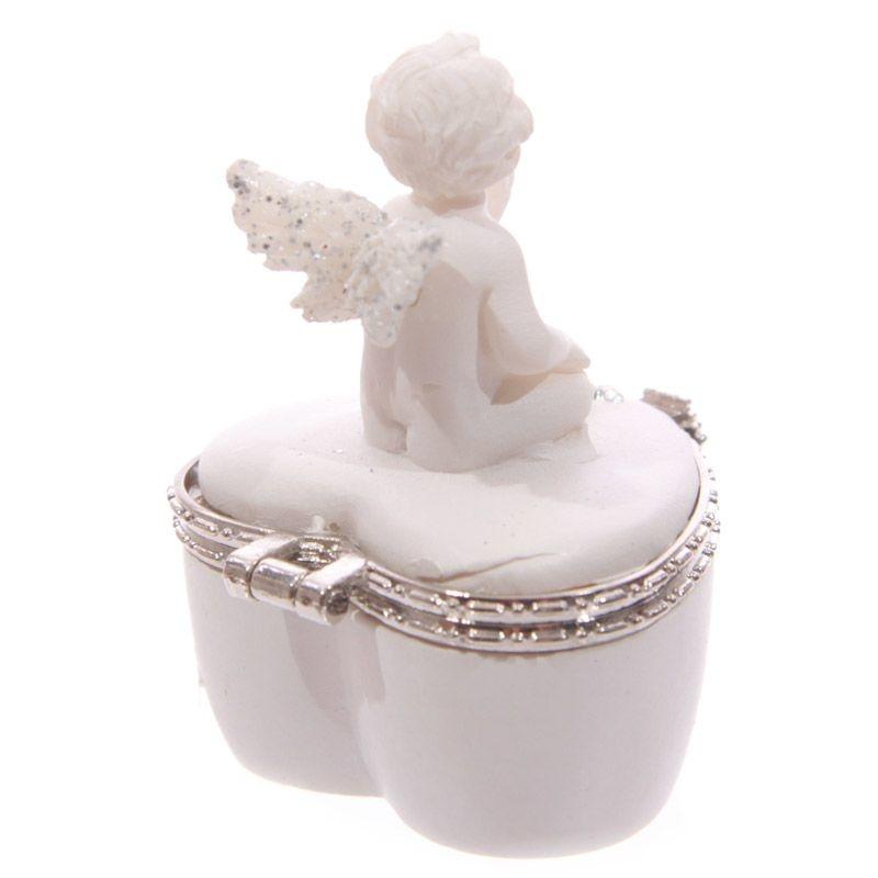 Set van 2 engel bewaardoosjes