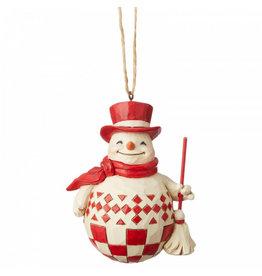 Jim Shore Jim Shore Nordic Noel Snowman  - hanging ornament