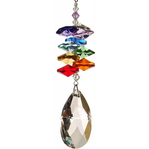 Suncatcher regenboog amandel kristal