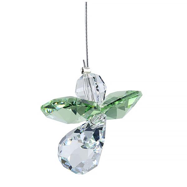 Suncatcher kristal engeltje - augustus