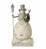 Jim Shore White Woodland Snowman Joyful Are Winter Days