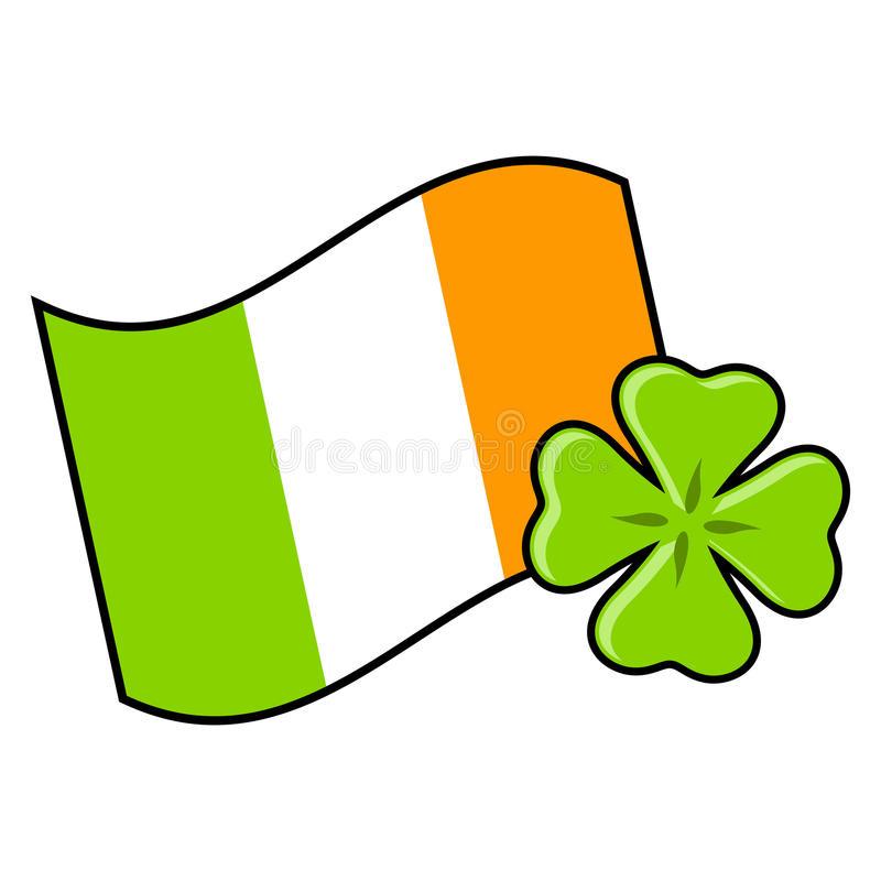 Ierse vlag met klavertje vier