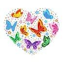 Hart met vlinders