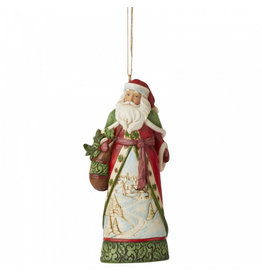 Jim Shore Santa with Winter Scene ornament