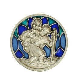 Christoffel magneet groen-blauw