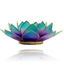 Lotus kaarshouder - paars/blauw (tweekleurig)