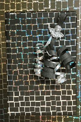 Zwart holografisch papier