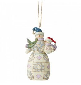 Jim Shore Snowman with Baby  - ornament