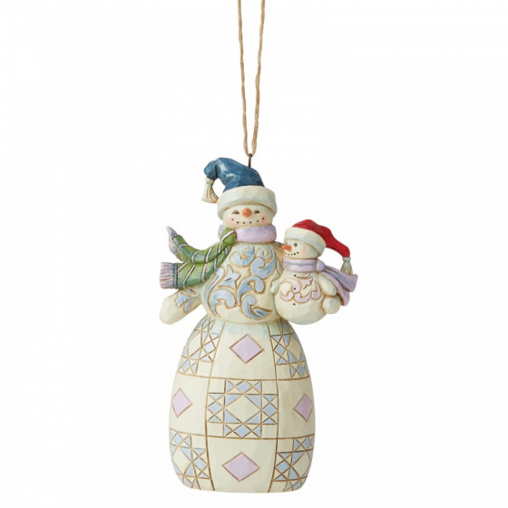 Jim Shore Snowman with Baby - hanging ornament