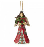 Jim Shore Angel with Wreath - hanging ornament (kersthanger)