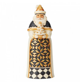 Jim Shore Black & Gold Santa