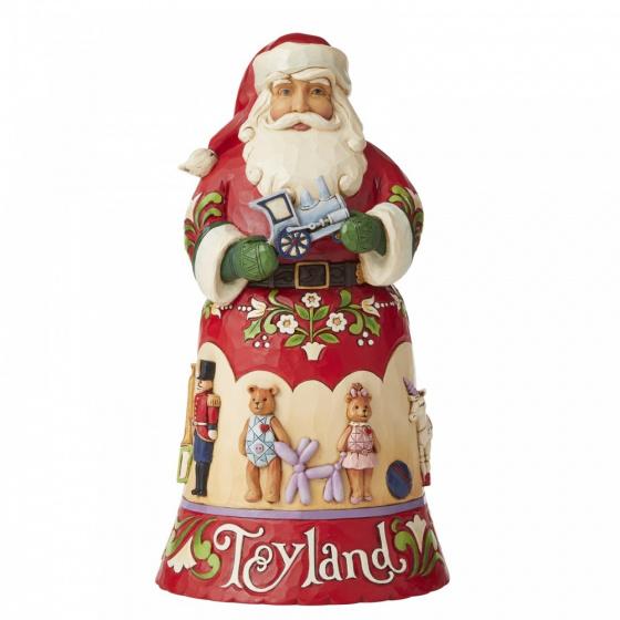 Jim Shore Toyland - beeldje van kerstman