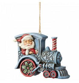Jim Shore Santa in Train Engine - ornament