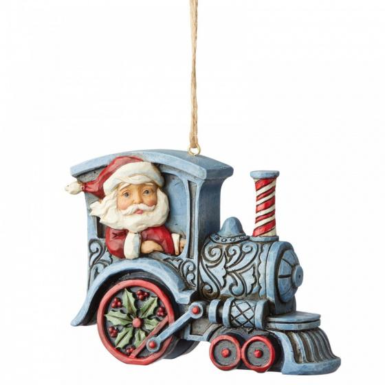 Jim Shore Santa in Train Engine - ornament (kersthanger)