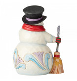 Jim Shore Snowman With Broom and Long Scarf