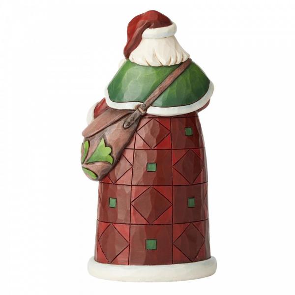 Jim Shore Santa with Satchel  - Kerstman