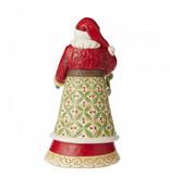 Jim Shore Santa with Holly - Kerstman